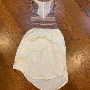 Roxy open back flowy tribal top summer dress, XS